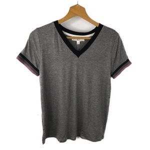 NWT Hippie Rose Charcoal Gray V Neck Top Sz M